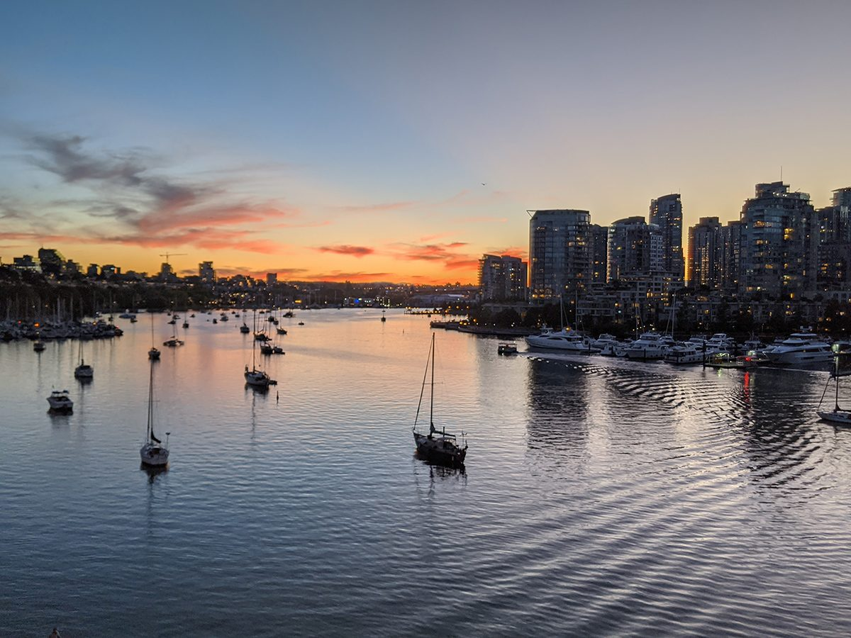 Best boat photography across Canada - Sailing at sunset