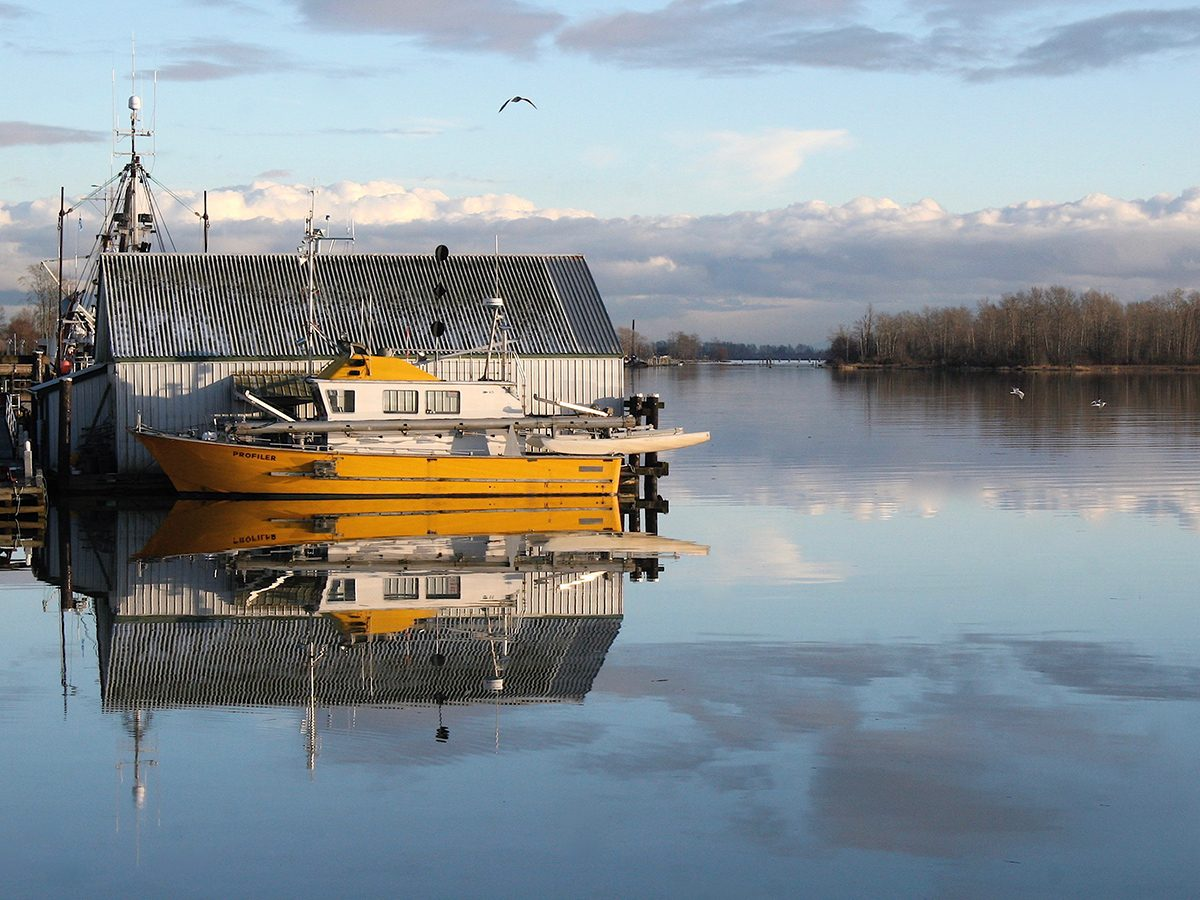 Best boat photography across Canada - Boat reflection in British Columbia