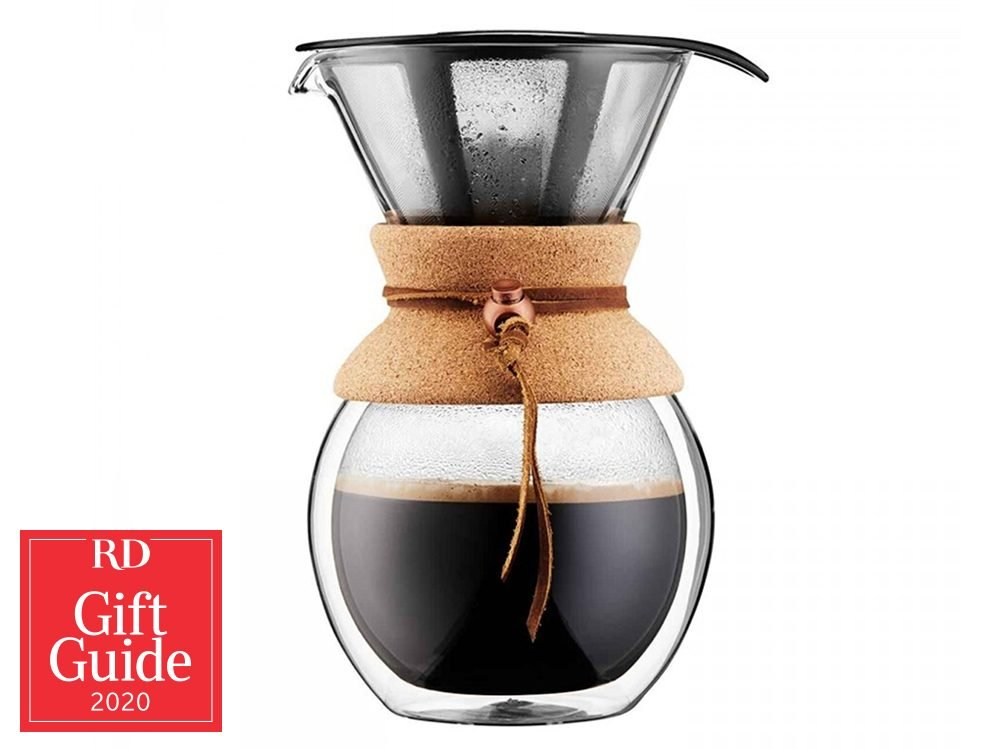 Canadian gifts - holiday gift guide - Chapters Indigo pour-over Bodum coffee maker