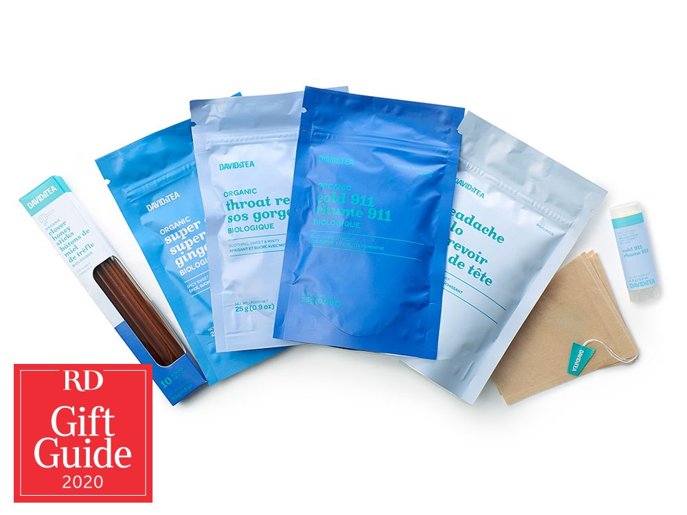 Canadian gifts - holiday gift guide - DavidsTEA Cold Survival Kit