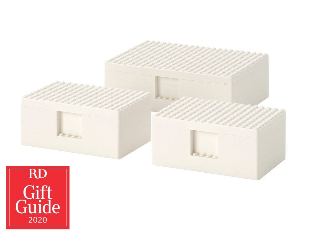 Canadian gifts - holiday gift guide - IKEA LEGO Bygglek storage boxes