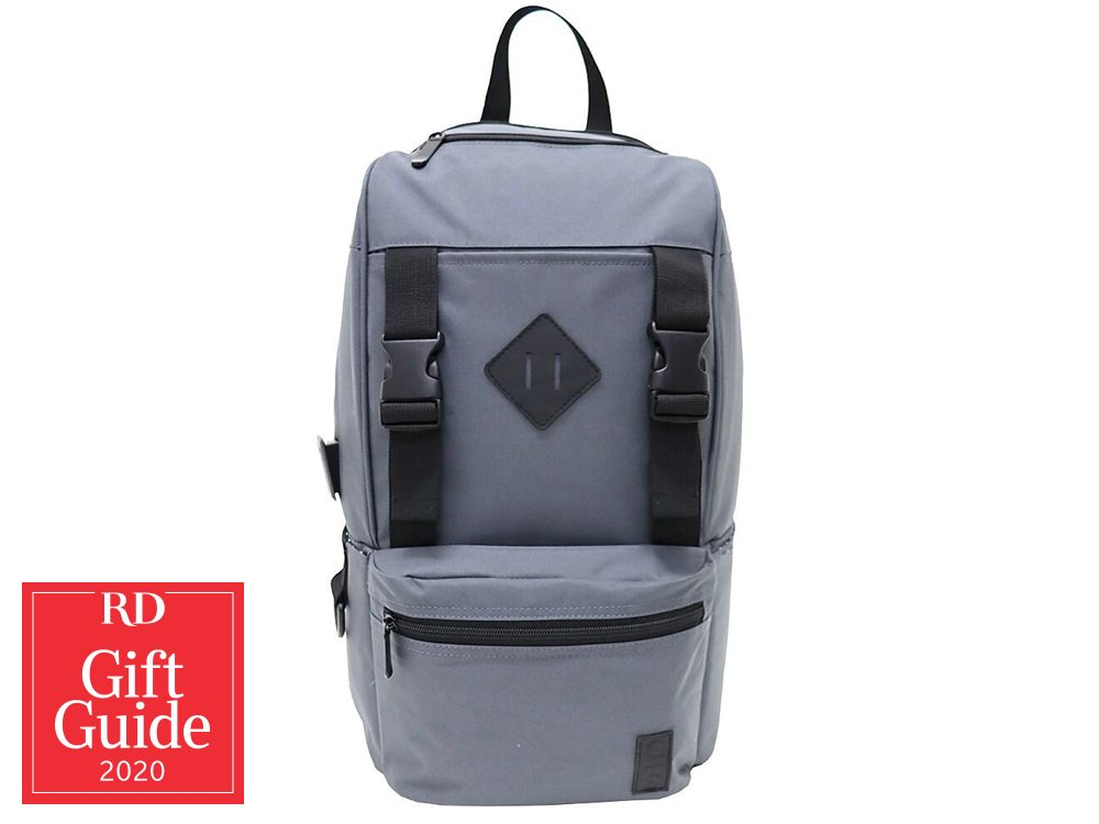 Canadian gifts - holiday gift guide - Staples USB charger backpack