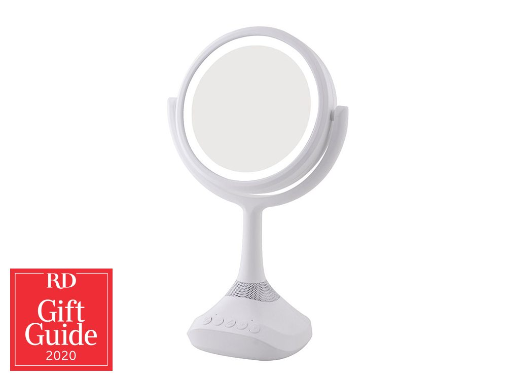Canadian gifts - holiday gift guide - Vanity mirror with Bluetooth speaker