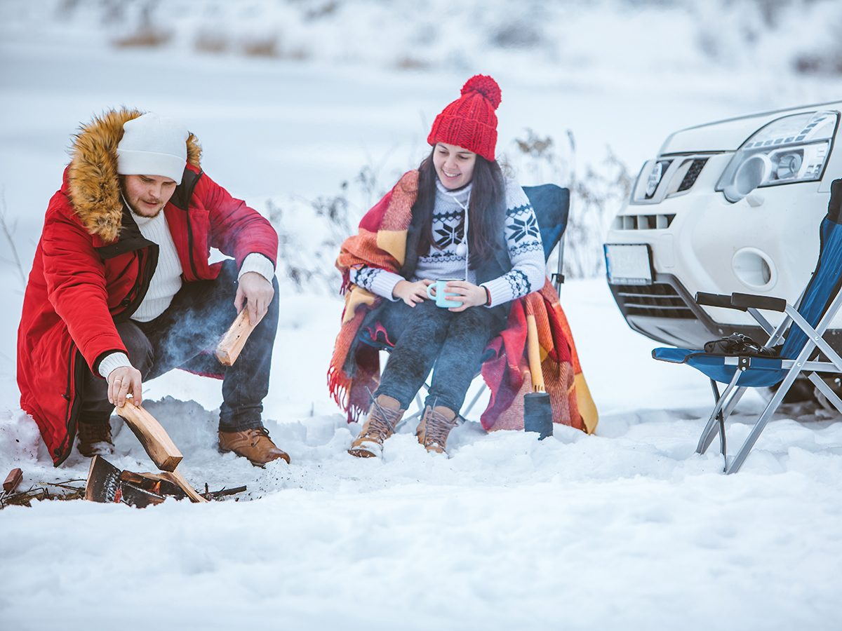 Most likely winter shortages due to COVID-19 - couple camping in winter