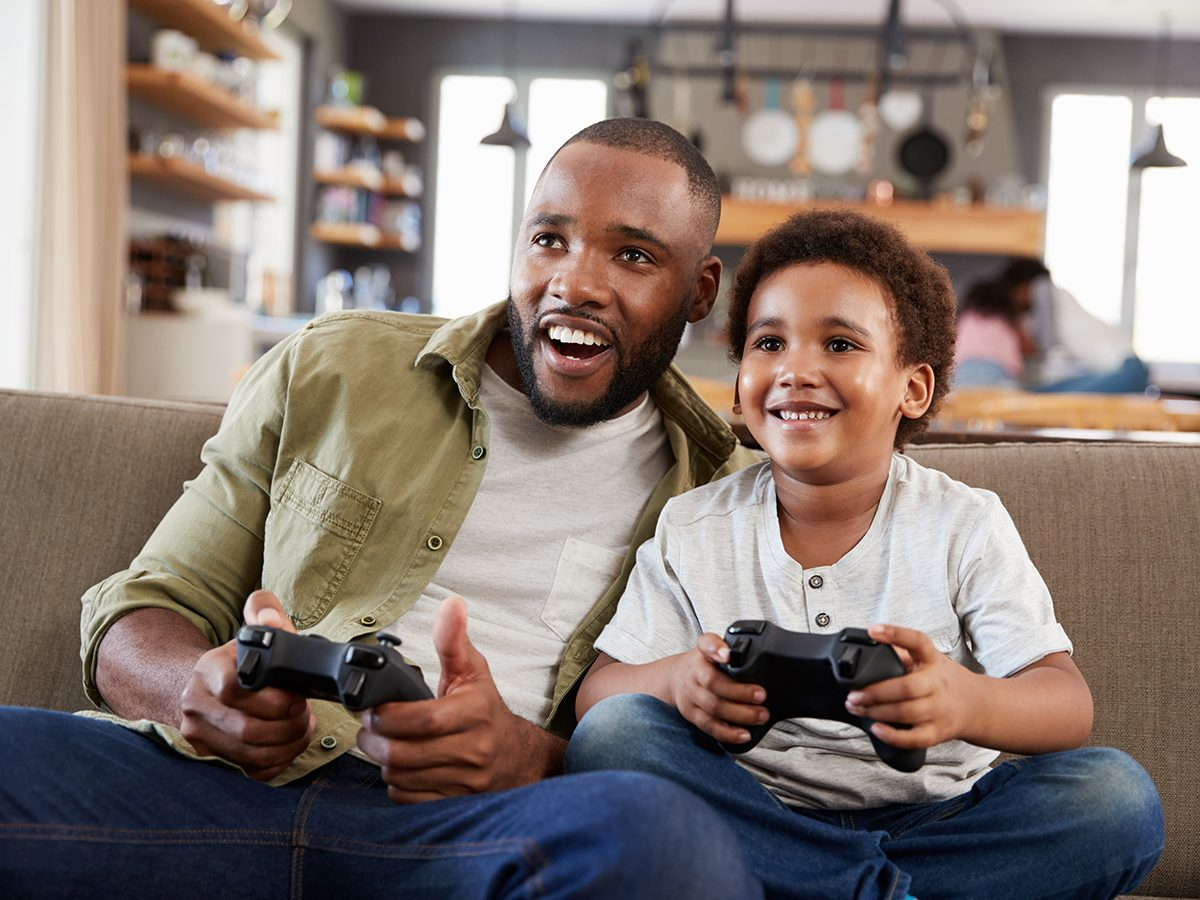 Most likely winter shortages due to COVID-19 - father and son playing video games