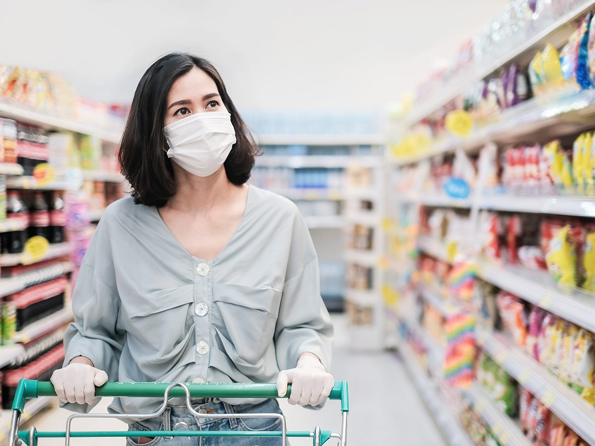 Most likely winter shortages due to COVID-19 - woman grocery shopping