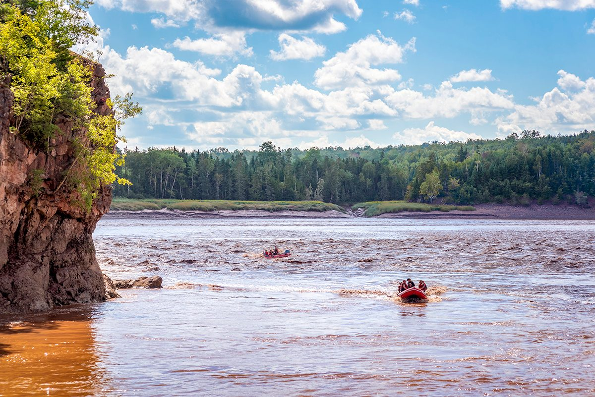 Day trips from Halifax - raft tidal bore