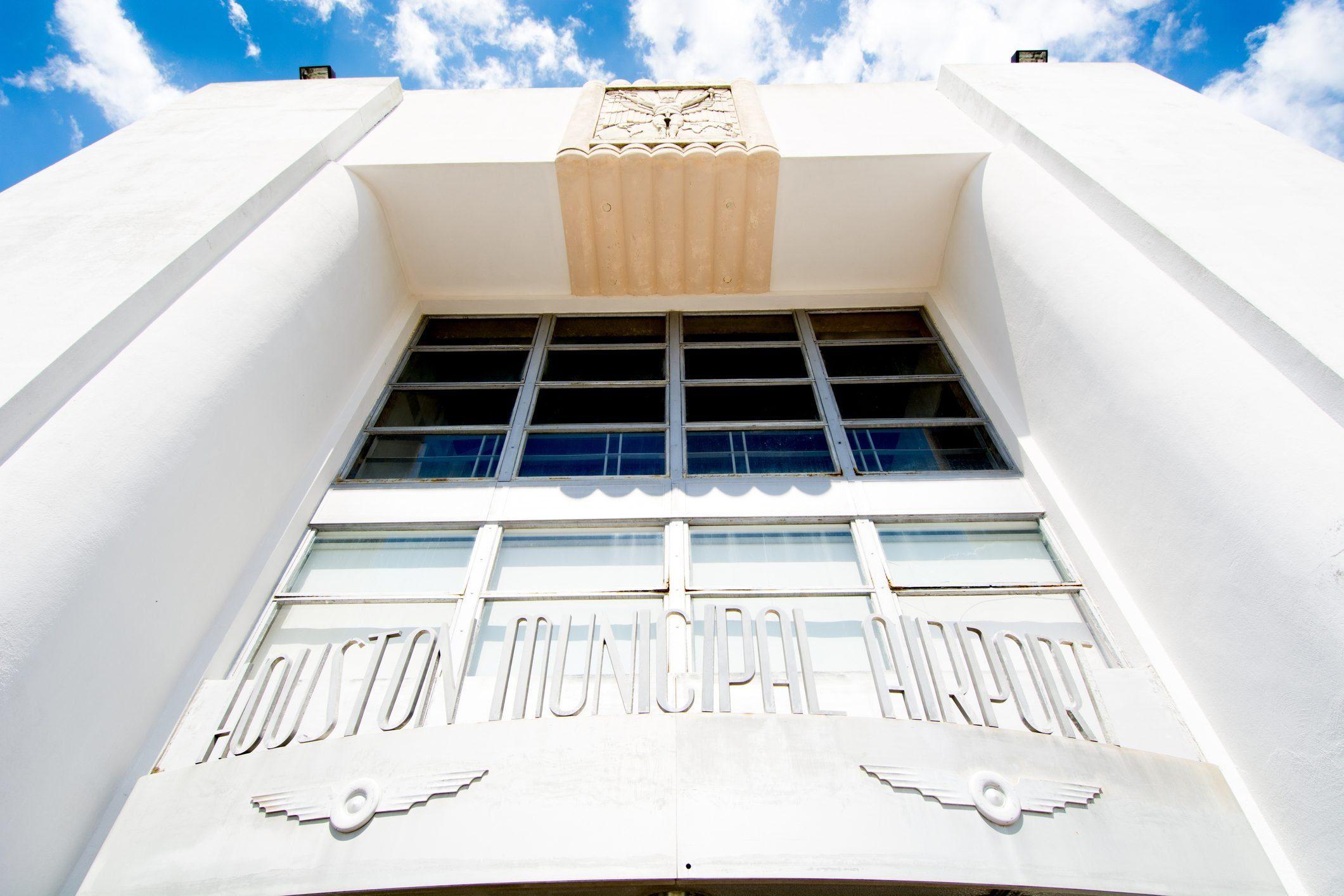 Entrance to Houston's 1940 Air Terminal