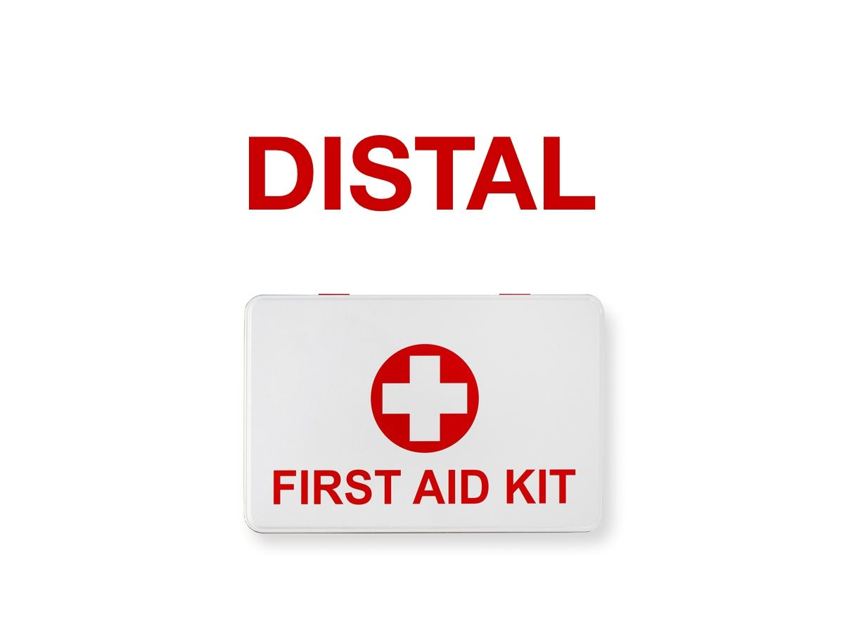 First aid terms - Distal