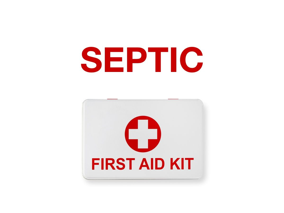 First aid terms - Septic