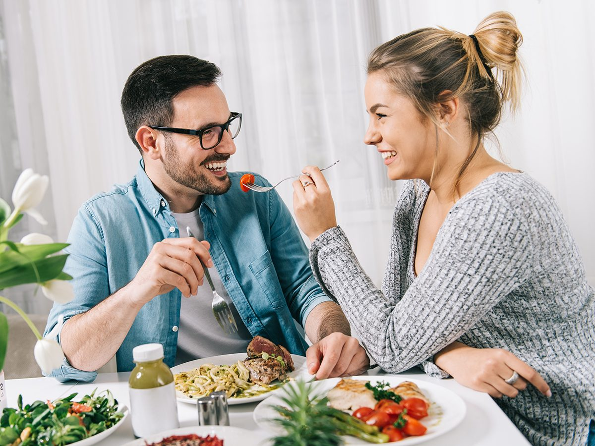 Health news - couple eating healthy meal