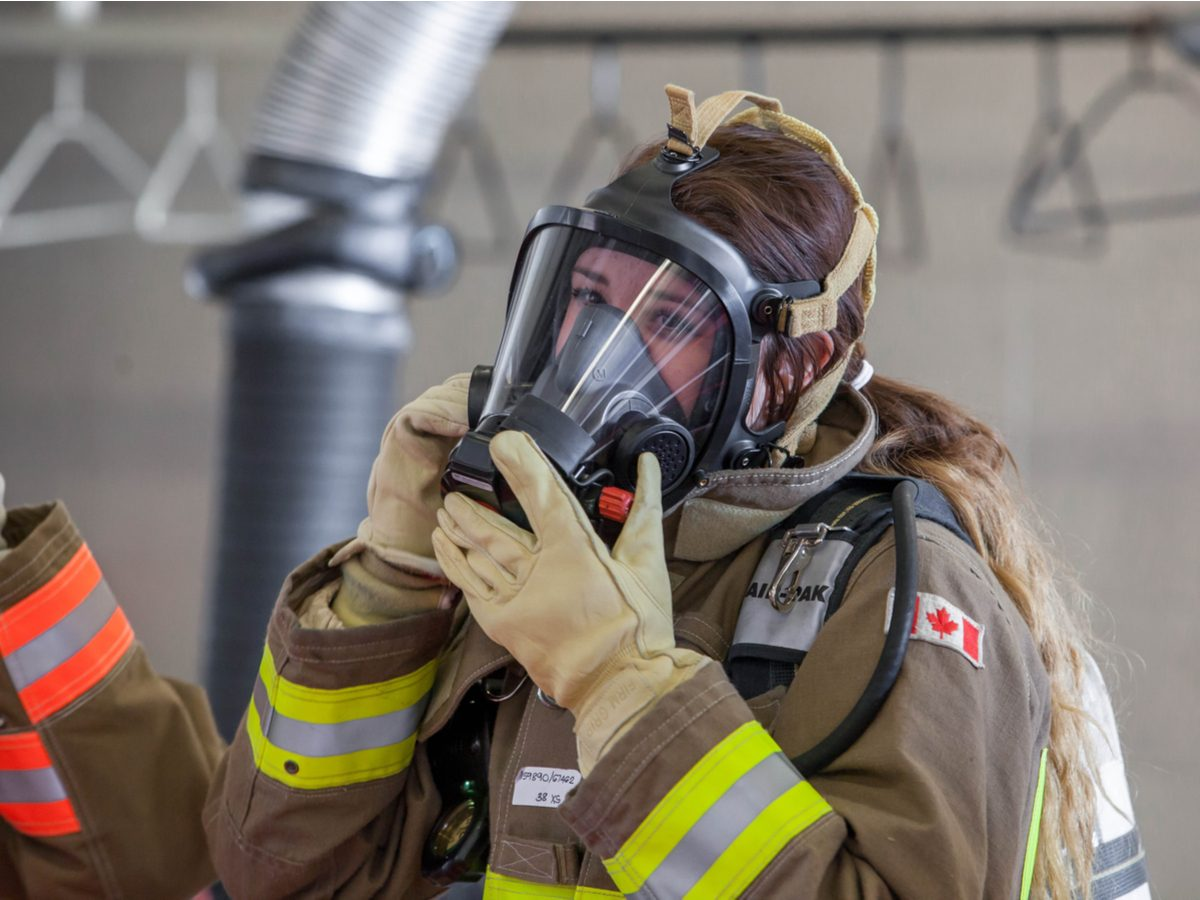 Canadian fire fighter
