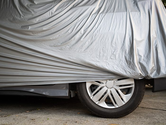 How to store a classic car - car cover