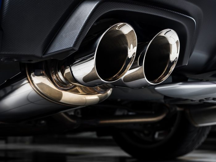 How to store a classic car - car exhaust pipe