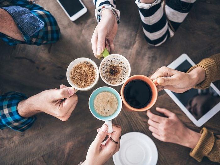 IBS triggers - people drinking coffee