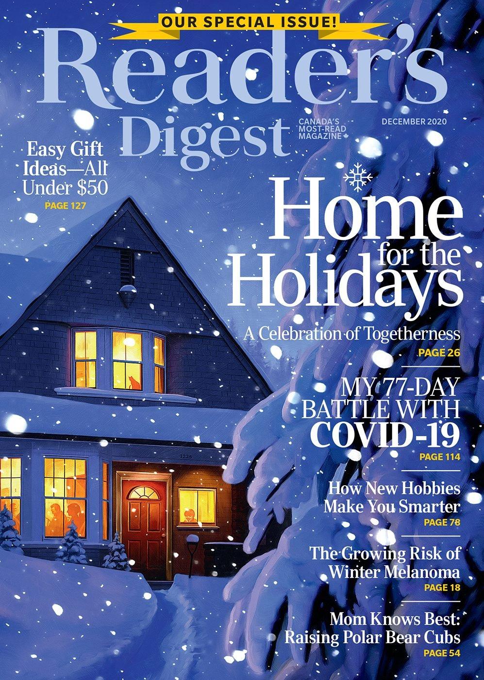 Reader's Digest Canada - December 2020 cover