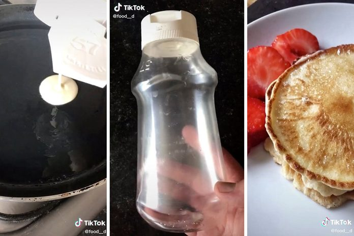 Empty Ketchup Bottle and pancake batter hack