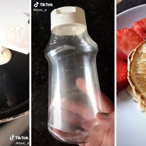 Empty Ketchup Bottle and pancake batter hack