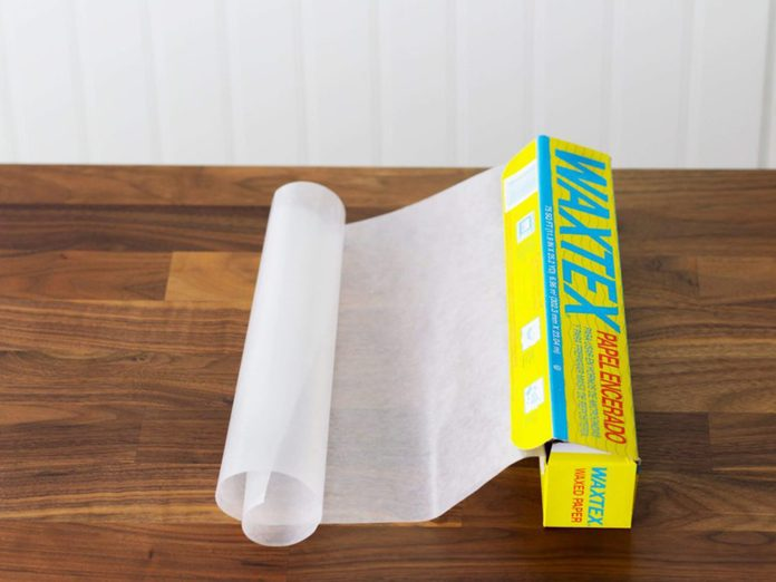 Waxed paper hack for grease - wax paper roll