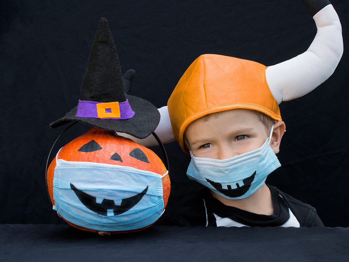 What to do on Halloween during COVID-19 - Decorate your face mask for Halloween