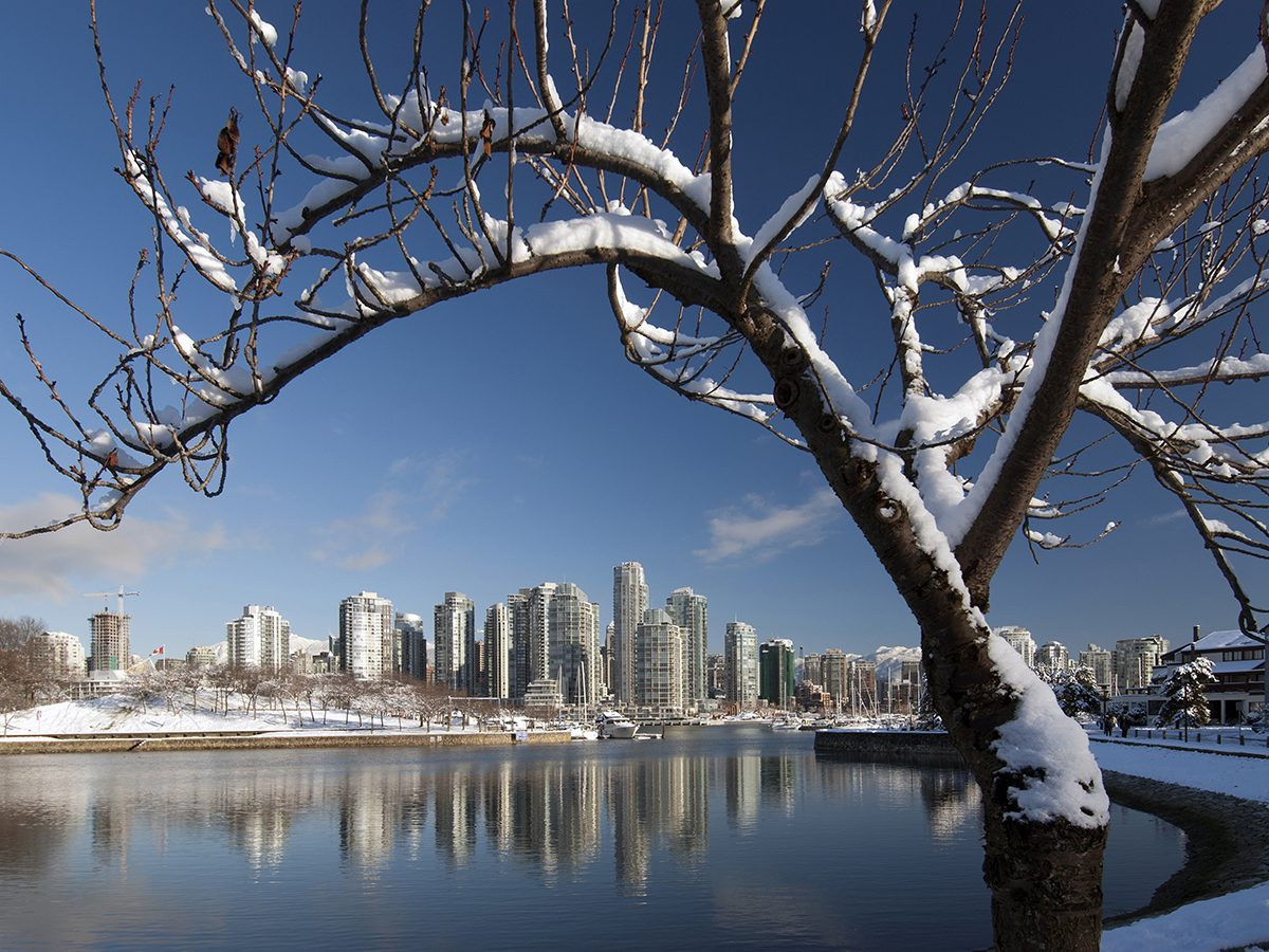 Winter forecast - snow in Vancouver