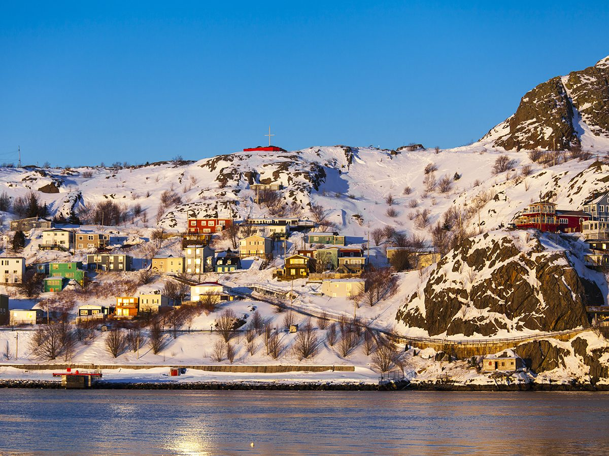 Winter forecast Canada - Snow in St. John's Newfoundland