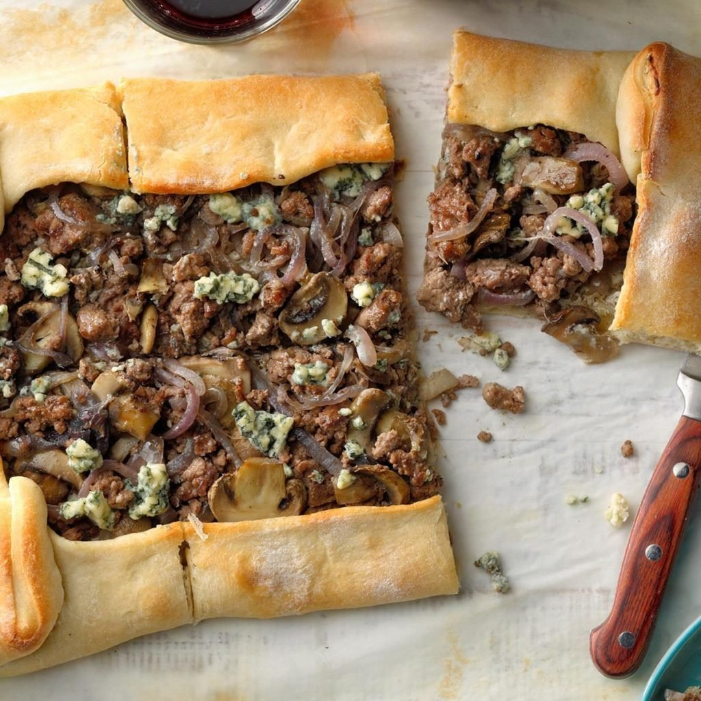 Beef and Blue Cheese Tart