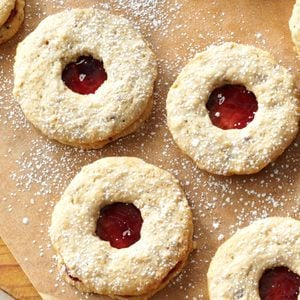 Jam-Filled Wreaths and Hearts