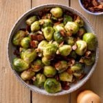Maple and Bacon Glazed Brussels Sprouts