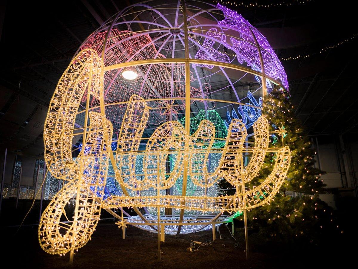 Glow Gardens light display in Langley, British Columbia
