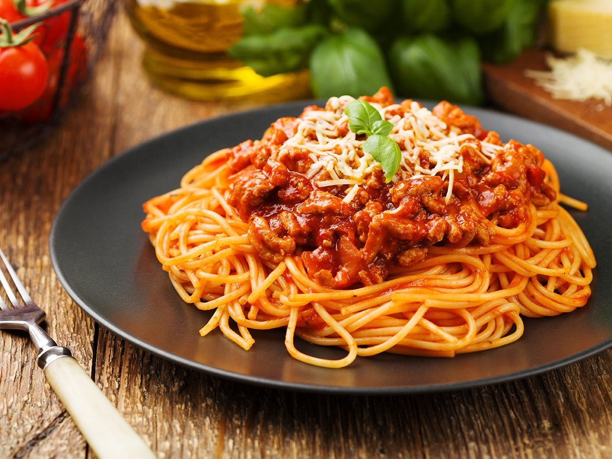 How to lose weight without exercise - spaghetti dinner