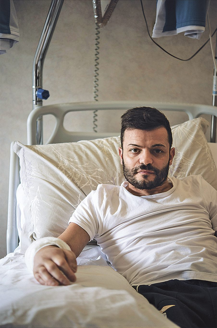 Giampaolo Matrone in the hospital