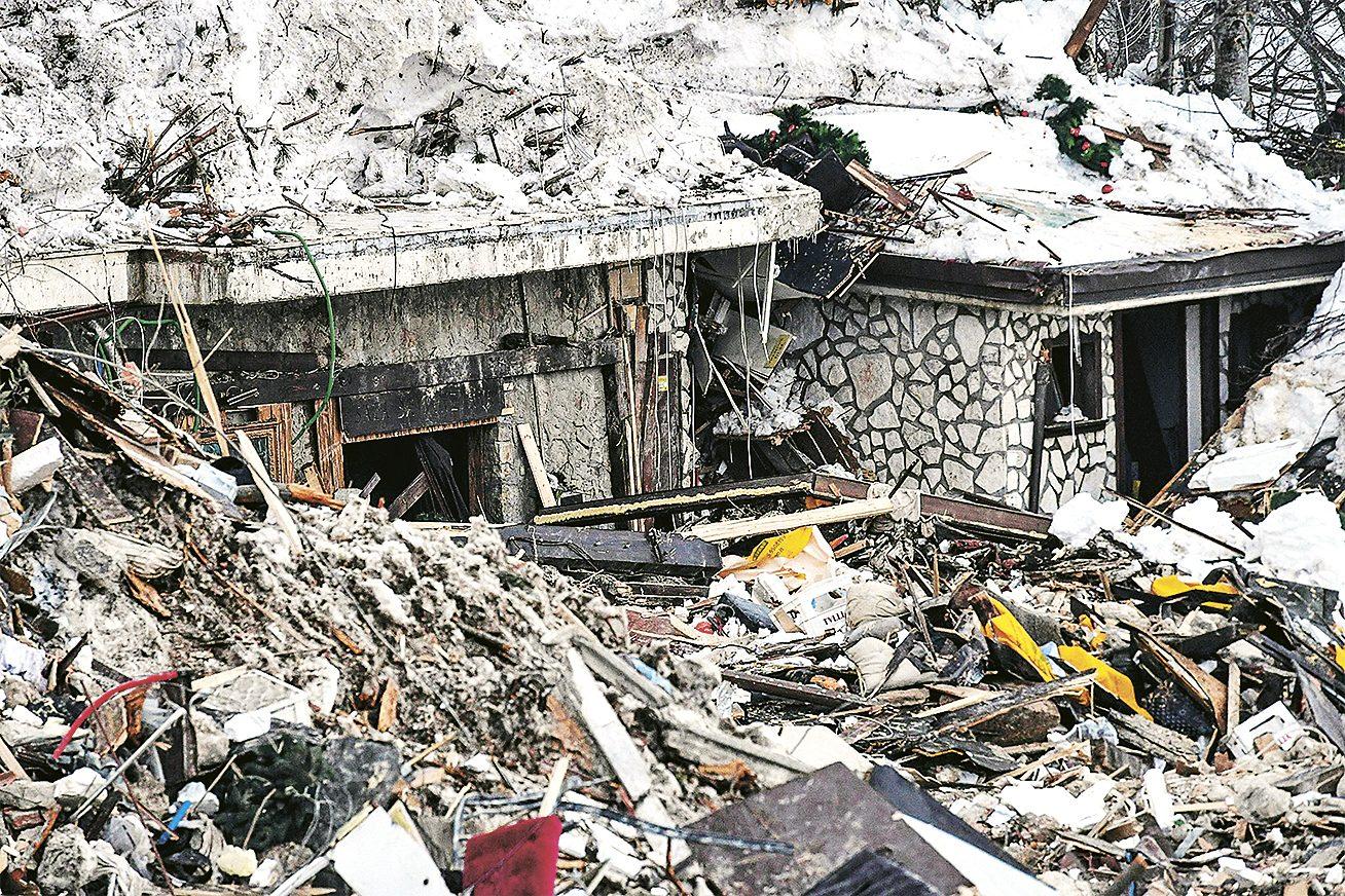 Wreckage of Hotel Rigopiano