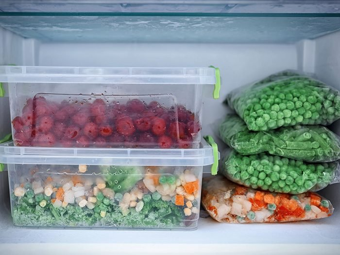 How to protect food from freezer burn - food in freezer