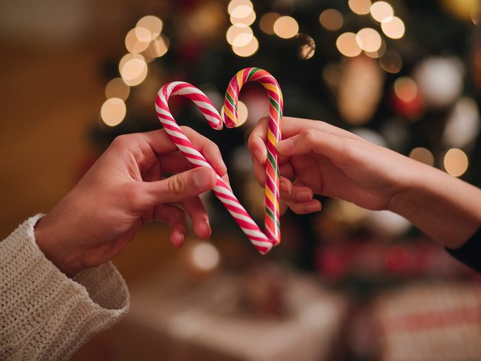 Candy canes in a heart