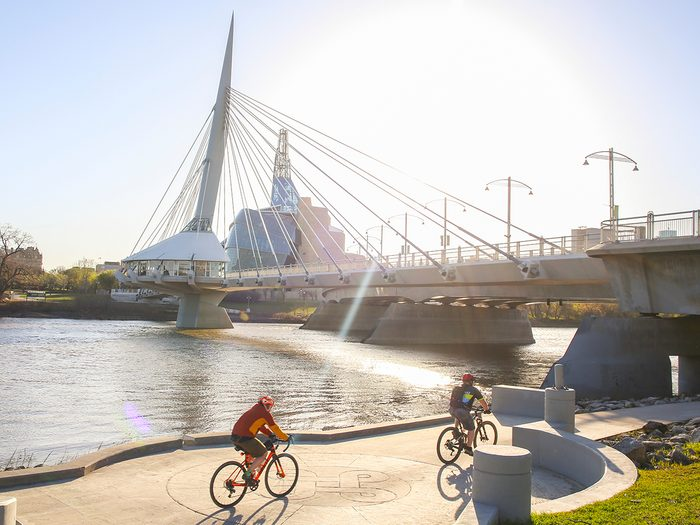 Things to do in Winnipeg - bicycling along the Red River