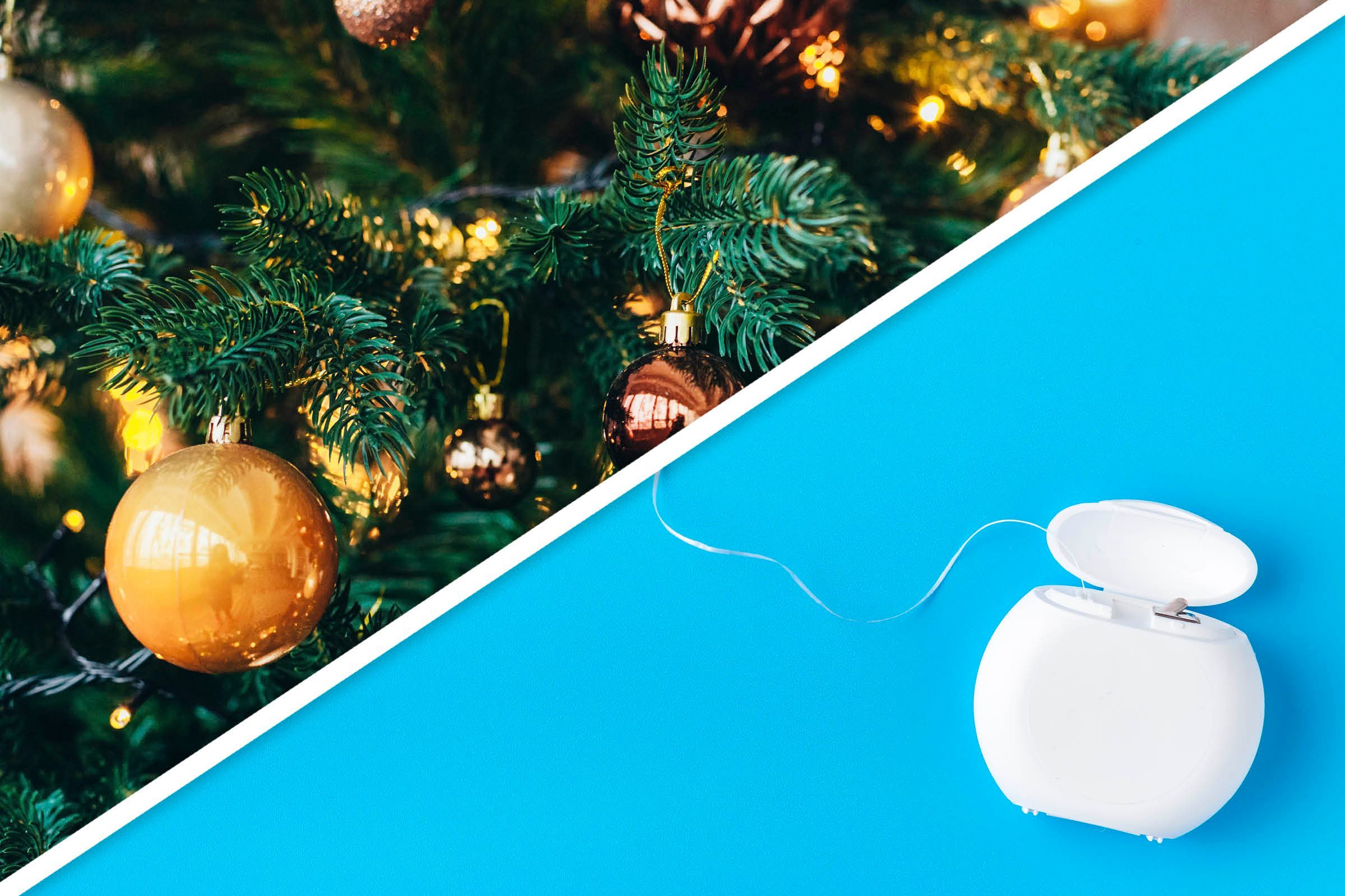 Christmas ornaments and floss