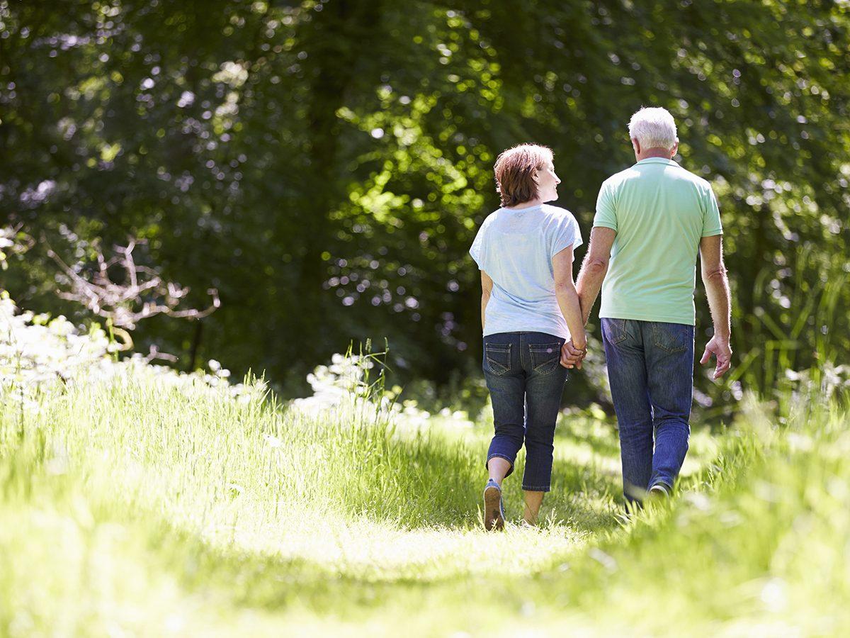 Walking mistakes - Senior couple walking