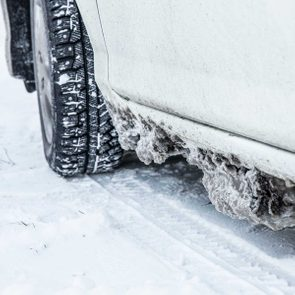 How to prevent winter road salt from damaging your car - winter driving car