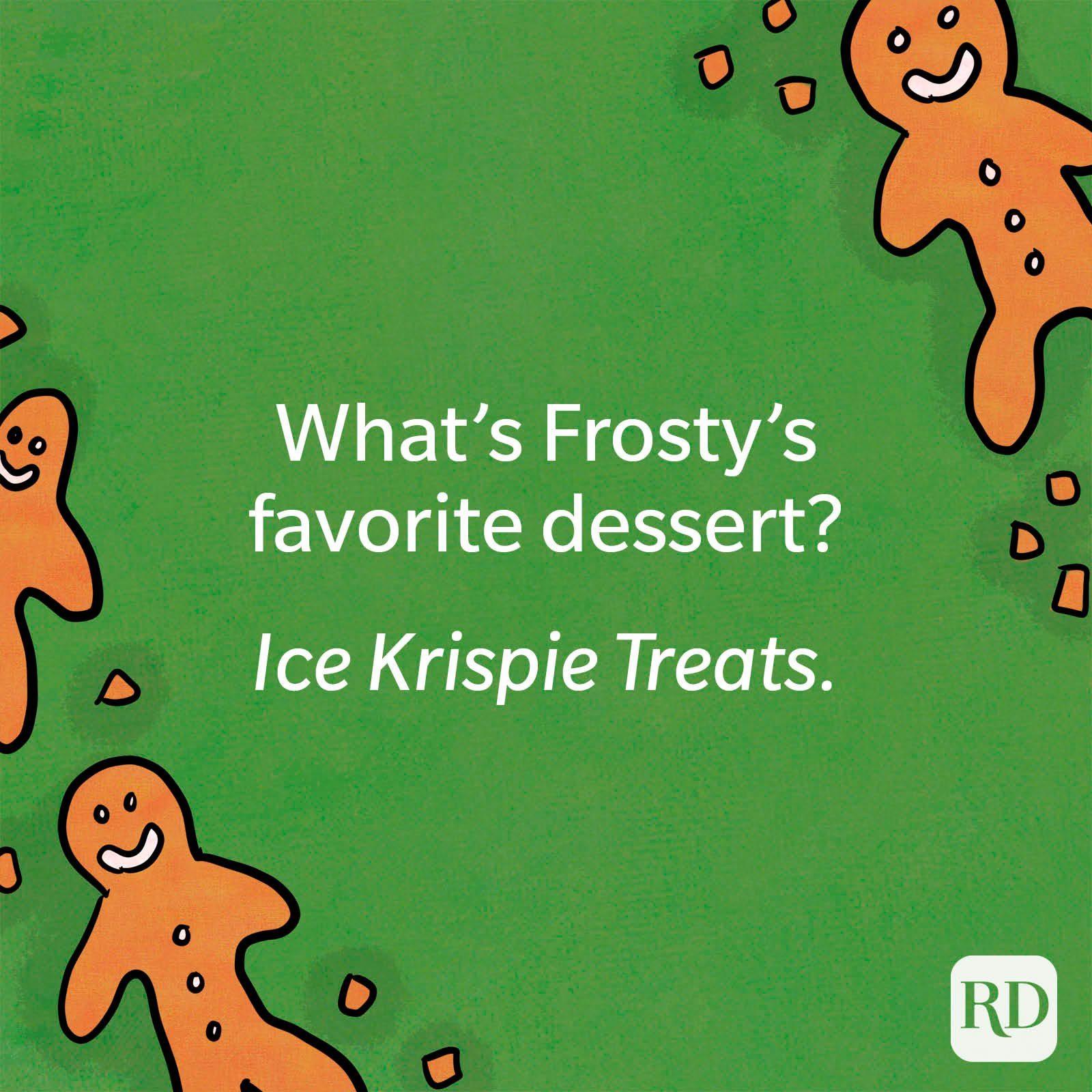 What's Frosty's favorite dessert?