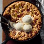 Chocolate Pecan Skillet Cookie