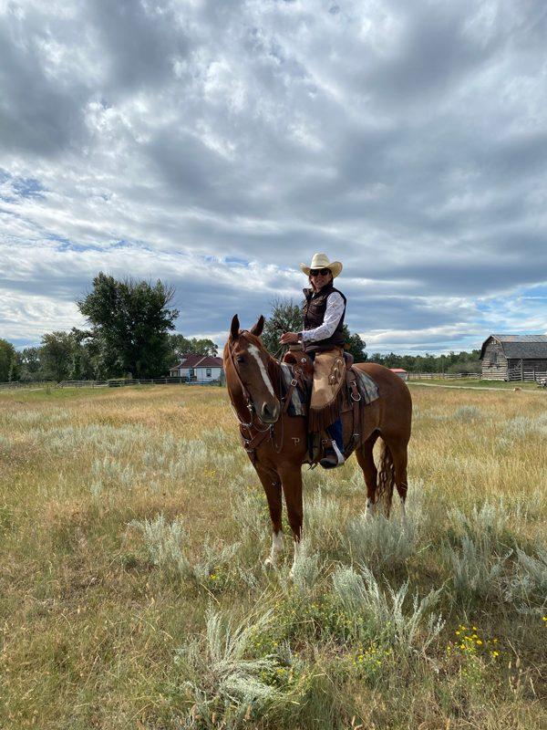 Canadian beef ranching traditions - farmer on horseback