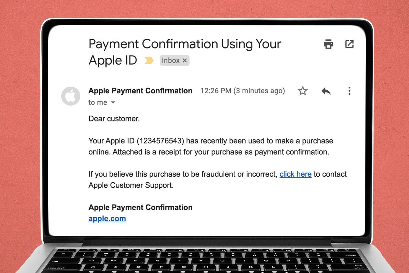 Payment Confirmation Using Your Apple ID Email