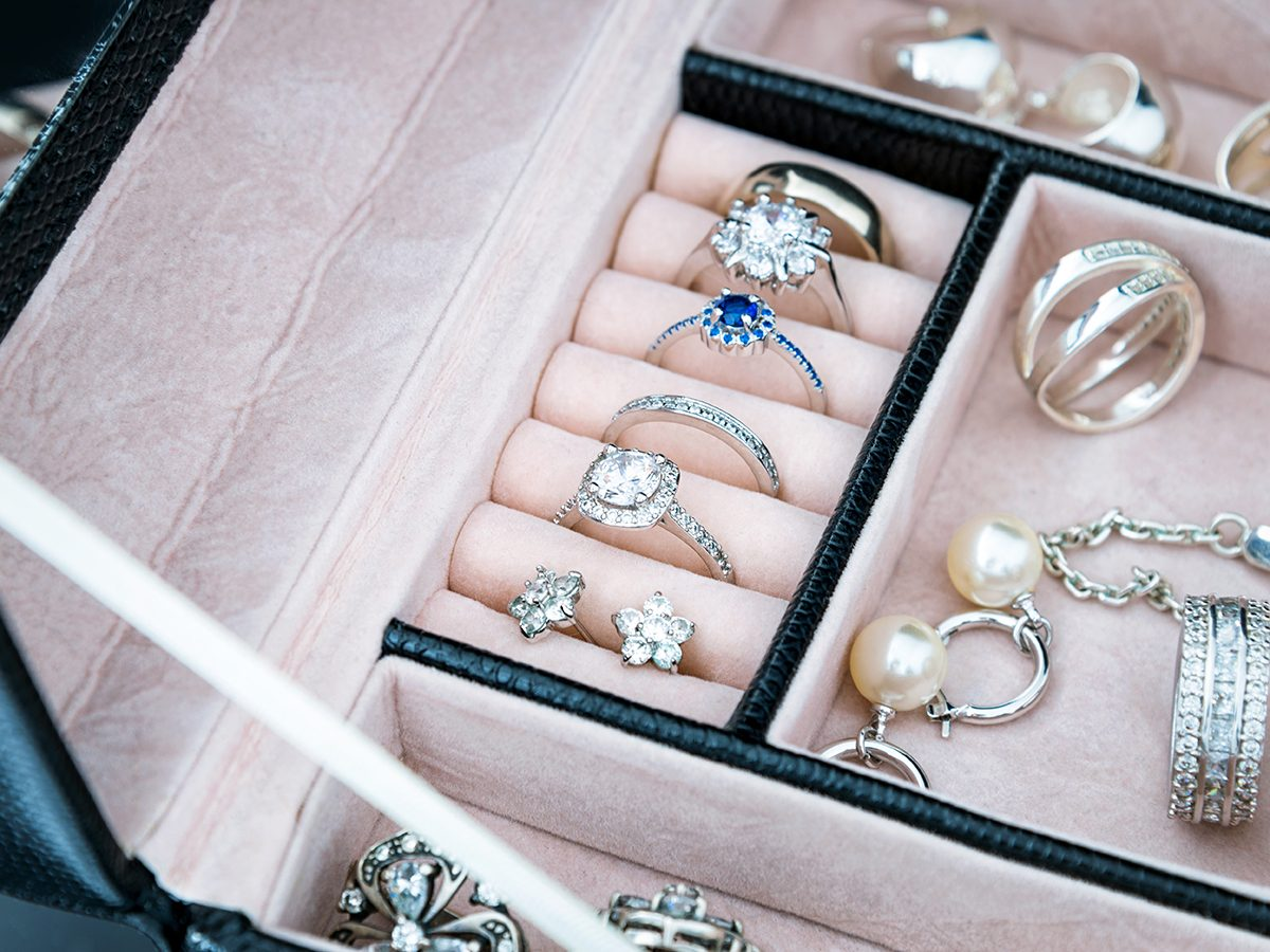 Never use a Magic Eraser to clean these things - Jewellery box
