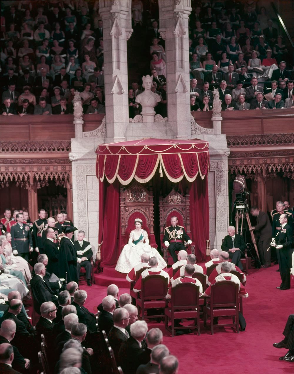Royal tours of Canada - Queen Elizabeth II opens Parliament in 1957