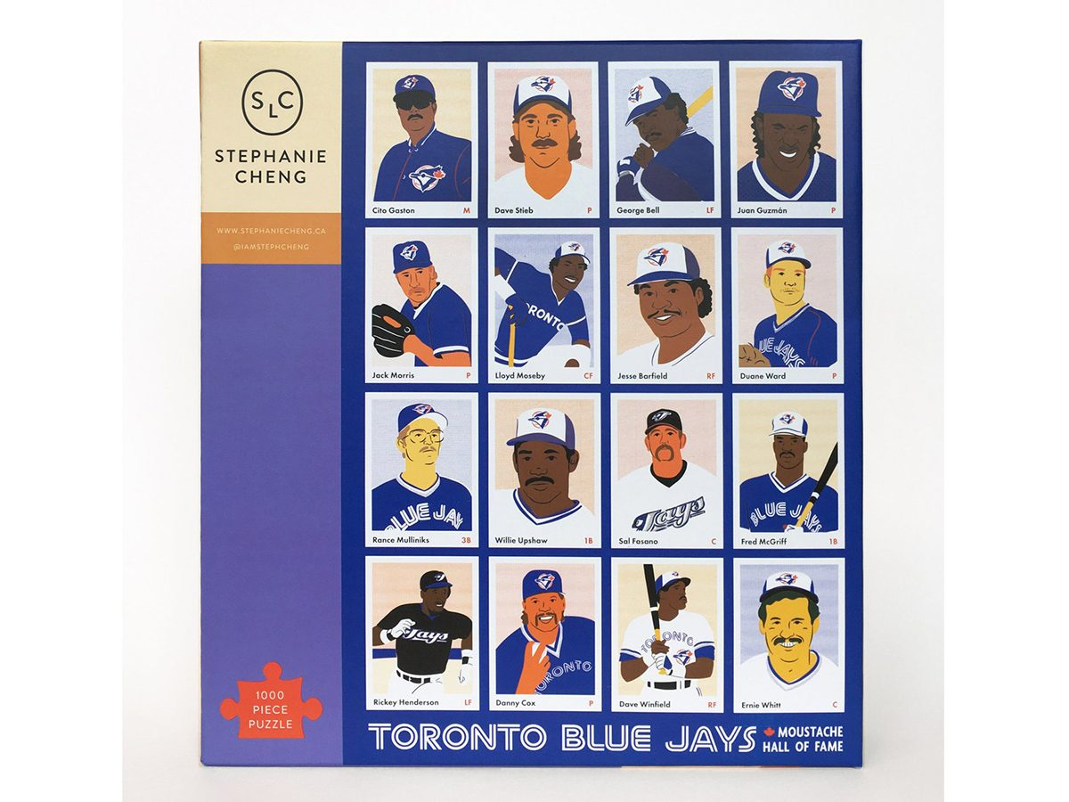 Stephanie Cheng Baseball Moustache Hall of Fame Puzzle