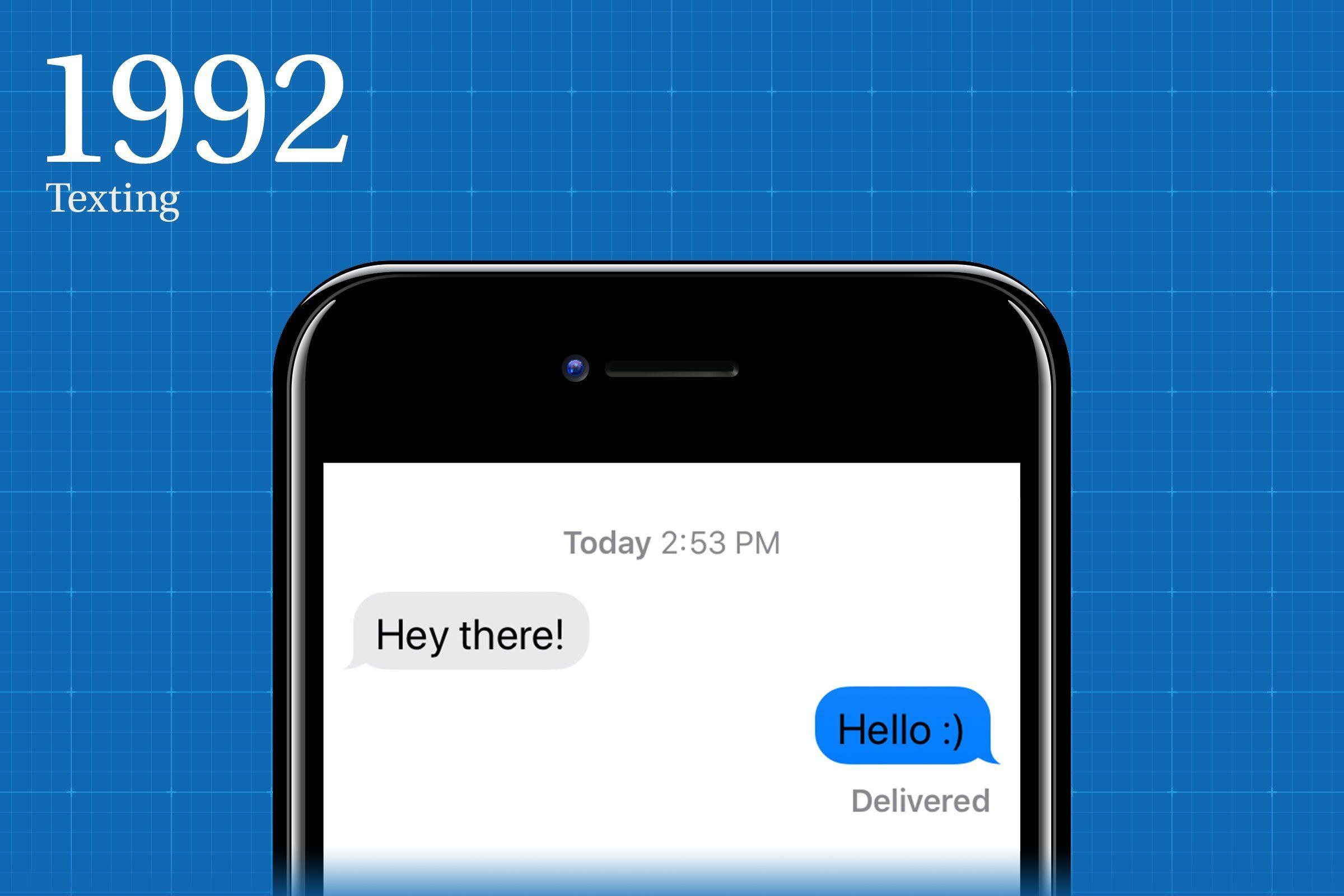 1992: Texting