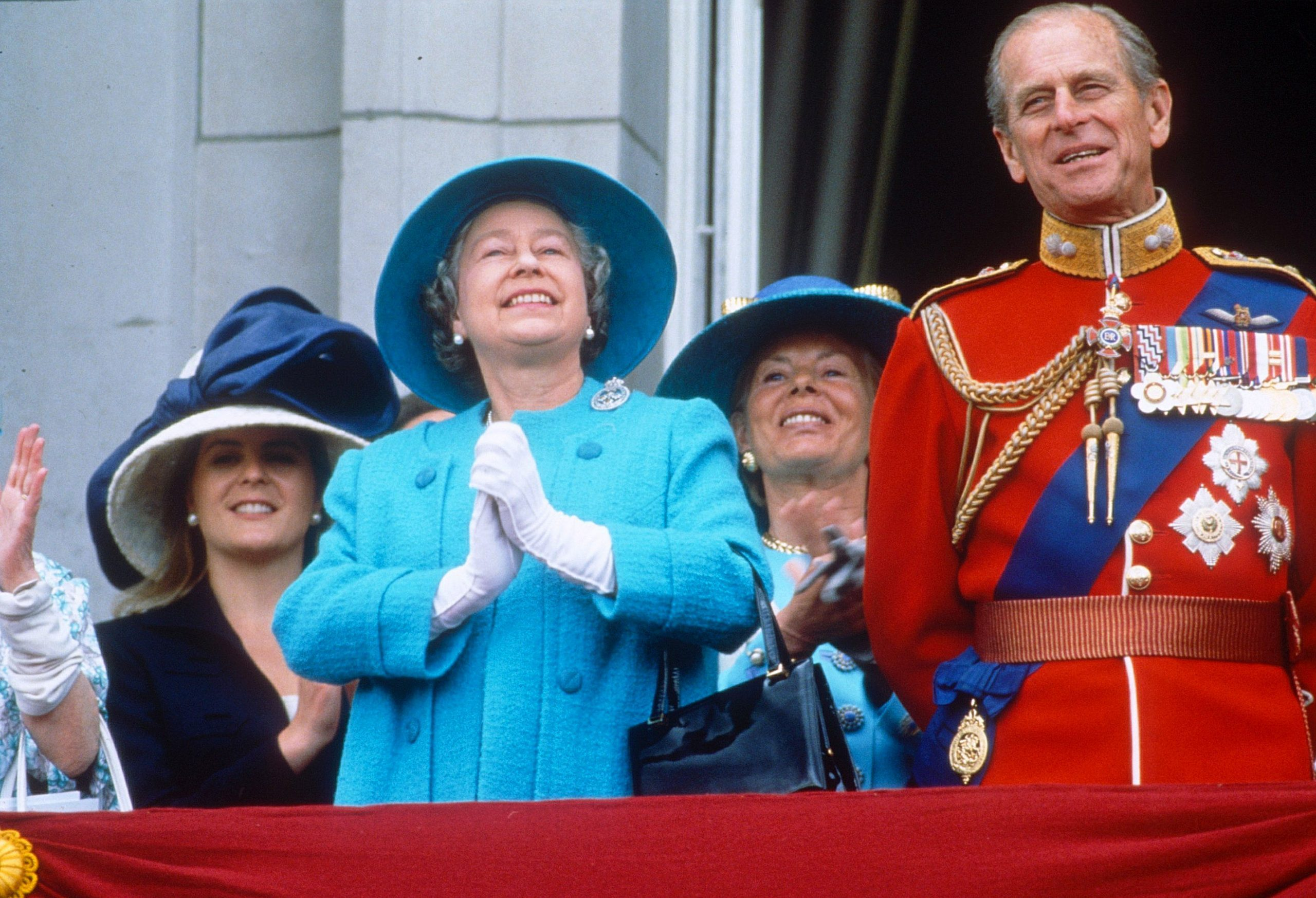 TROOPING THE COLOUR, BUCKINGHAM PALACE, LONDON, BRITAIN - 1993