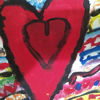 Love photography - Painting of heart