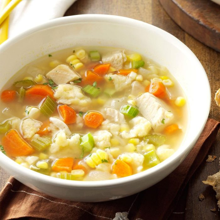 Chicken corn soup with rivels recipe